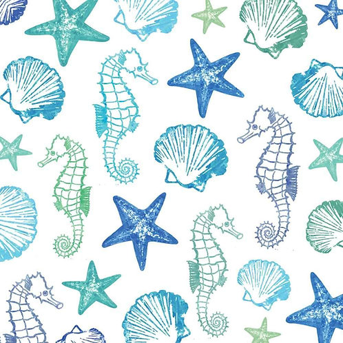 Watercolor seaside lunch napkins