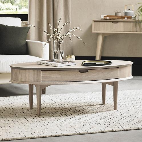 Dansk Scandi Oak Coffee Table With Drawer