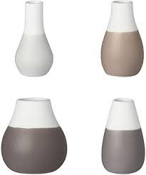 Shades of Grey Mini Vases set of 4