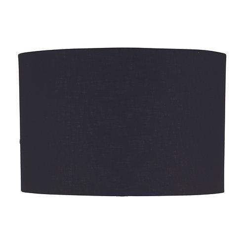 45cm Black Poly Cotton Cylinder Drum Shade