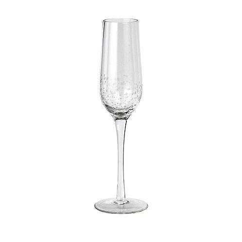 CHAMPAGNE GLASS 'BUBBLE' GLASS