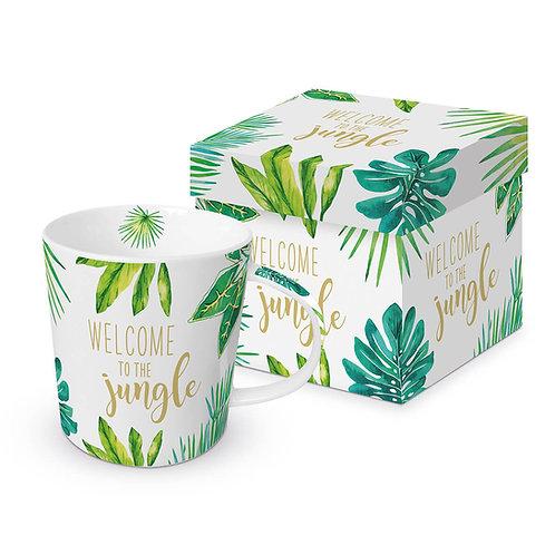 The Jungle real gold mug in gift box 350ml New Bone China