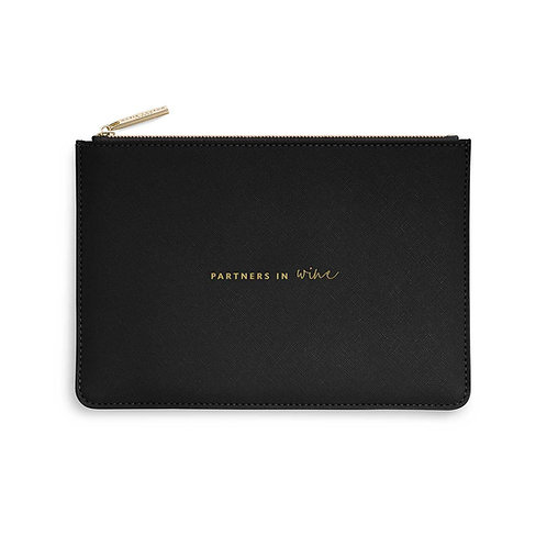 PERFECT POUCH | PARTNERS IN WINE | BLACK