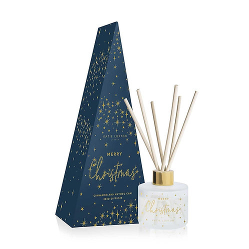 FESTIVE REED DIFFUSER MERRY CHRISTMAS CINNAMON AND NUTMEG CHAI