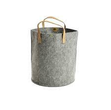Grey Felt Storage Basket/Bag