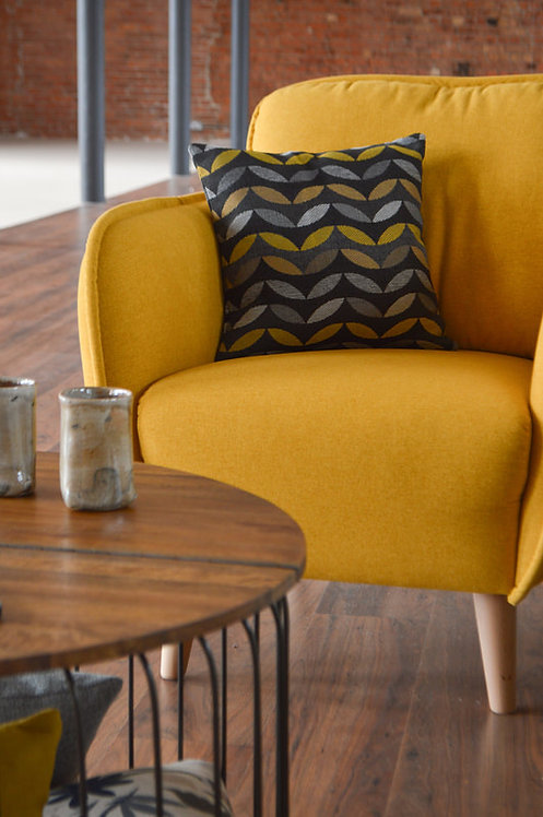 yellow chair front view bowie Sofa Range siren sand cornwall stives