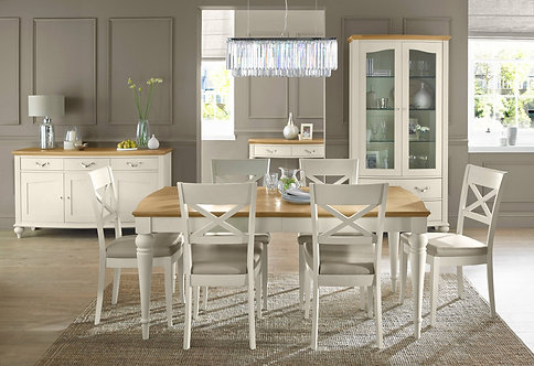 Montreux Pale Oak & Antique White 6-8 Extension Table