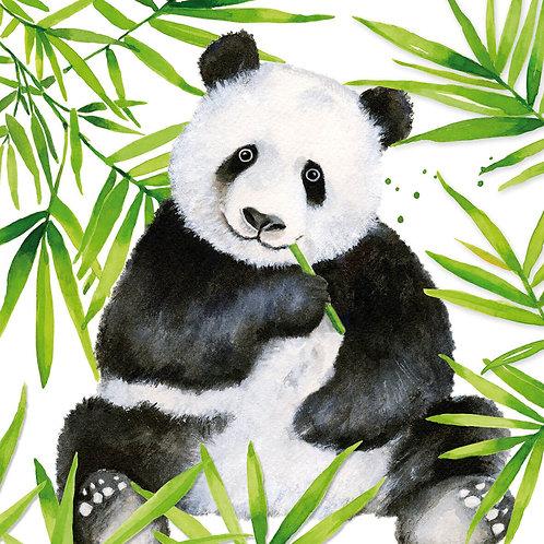 Tropical Panda lunch napkins