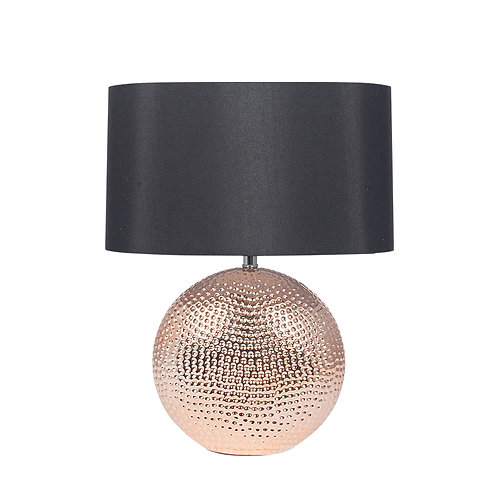 Copper Textured Ceramic Table Lamp