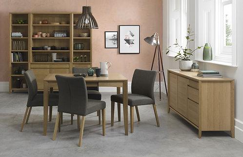 Bergen Oak 4-6 Seater Rectangular Extending Dining Table - 130cm
