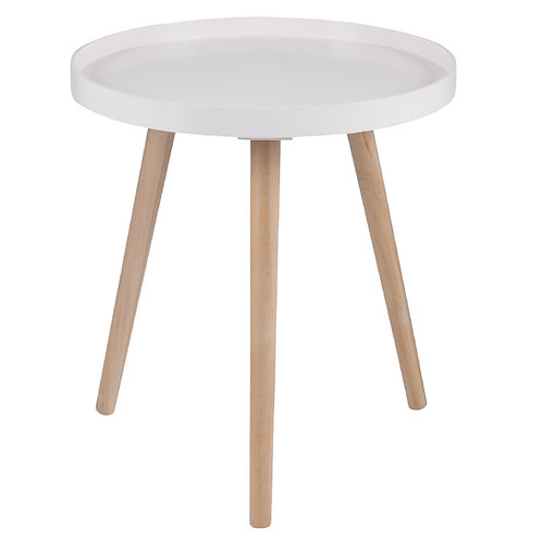 Blush Pine Wood & MDF Round Table Large sand cornwall