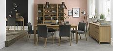 8101-3-F4 bergen oak 6-8 extending table