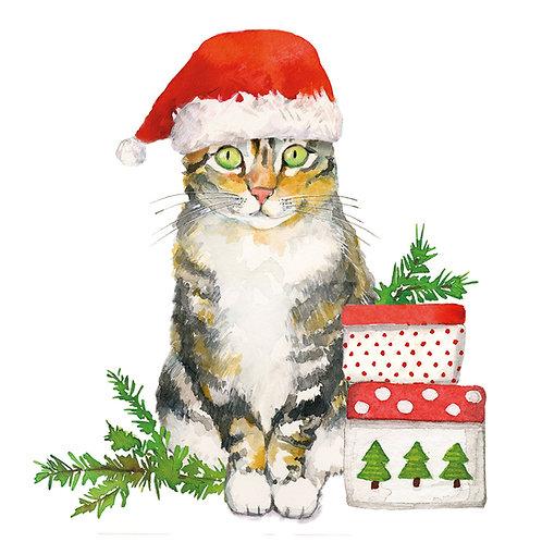 Christmas Kitty Lunch Napkins