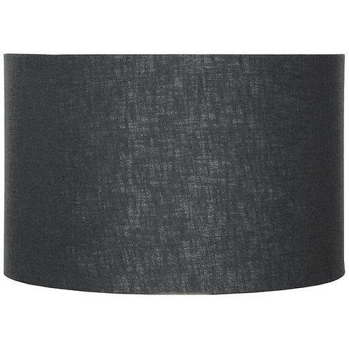 40cm Black Self Lined Linen Drum Shade