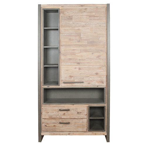 The Botallack Collection Wood & Metal Tall Unit