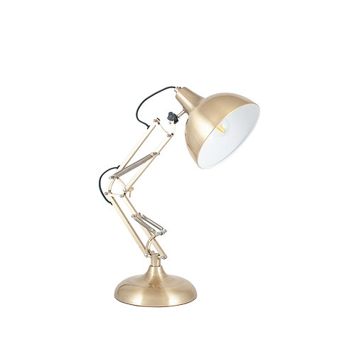 Brass Metal Task Table Lamp