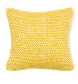 Yellow Pure New Wool Cushion