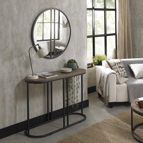 Chevron Weathered Ash Console Table