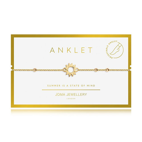 'Summer Is A State Of Mind' Gold Sun Anklet