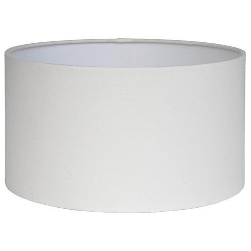 40cm Cream Poly Cotton Cylinder Drum Shade