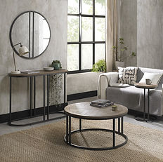 Chevron Weathered Ash Side Table by bent