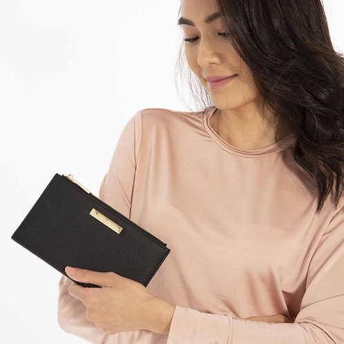 Katie Loxton Soft Pebble Alise Fold Out Purse Black