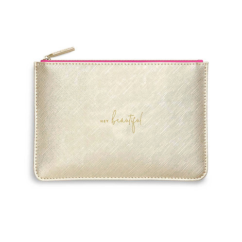 COLOUR POP PERFECT POUCH | HEY BEAUTIFUL | GOLD