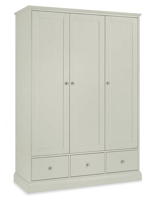 Ashby Soft Grey Triple Door Wardrobe