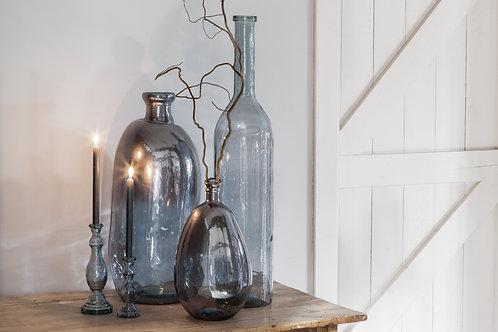 ZAMORA Light Blue Glass Vase or Table Lamp