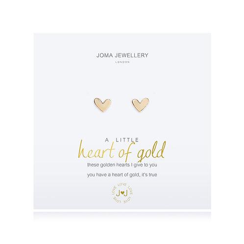 'A Little Heart Of Gold' Earrings