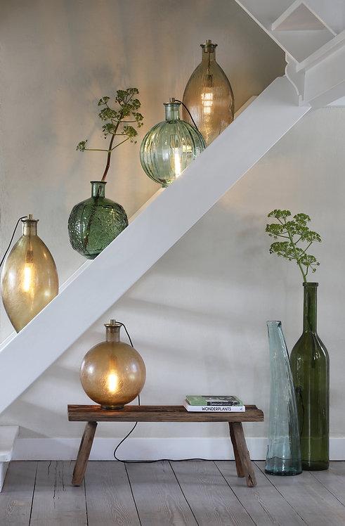 Gilena Light Brown Glass Bottle Vase/Floor Lamp