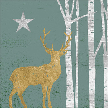 Mystic Deer Sage Lunch Napkins