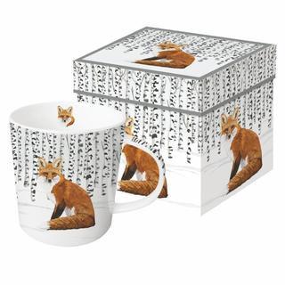 Wilderness Fox Gift-Boxed Mug 350ml New Bone China