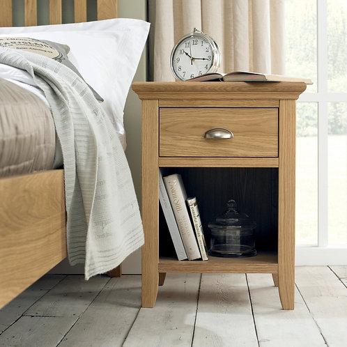 Hampstead Oak 1 Drawer Bedside Cabinet