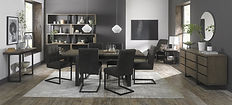 Tivoli Weathered Oak 6-8 Dining Table by