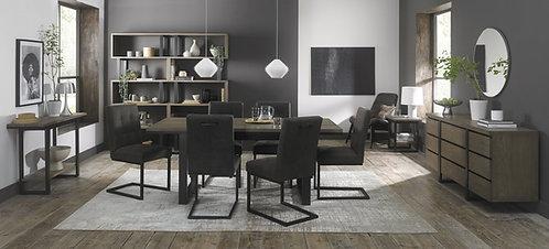 Tivoli Weathered Oak 6-8 Dining Table