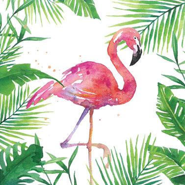 Tropical Flamingo Lunch Napkin