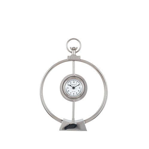 Silver Metal Framed Standing Clock