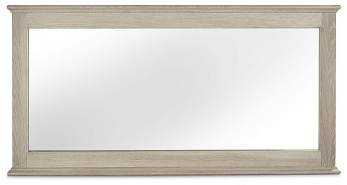 Bordeaux Chalk Oak Wide Wall Mirror