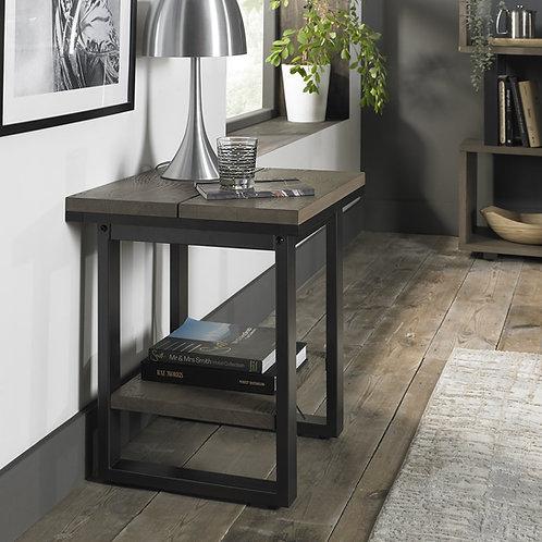 Tivoli Weathered Oak Lamp Table