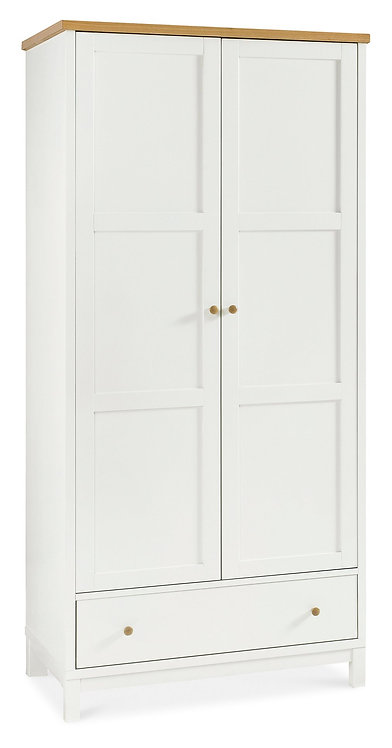 Atlanta Two Tone  Double Door Wardrobe