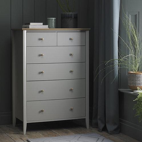 Whitby Scandi Oak & Grey 4+2 Chest of Drawers