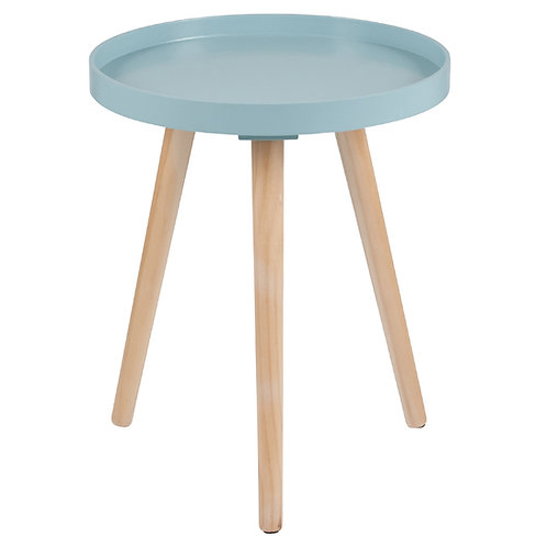 Aqua Pine Wood & MDF Round Table Small sand cornwall