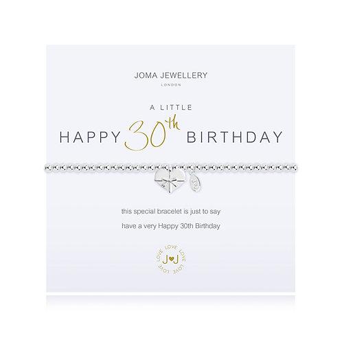 'A Little Happy 30th Birthday' Bracelet