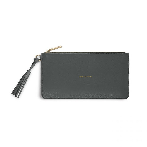 Katie Loxton 'Time To Shine' Florrie Tassel Pouch Charcoal