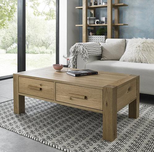 Turin Light Oak 2 Drawer Storage Coffee Table