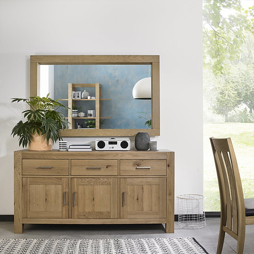 Turin Light Oak 3 Door Wide Sideboard