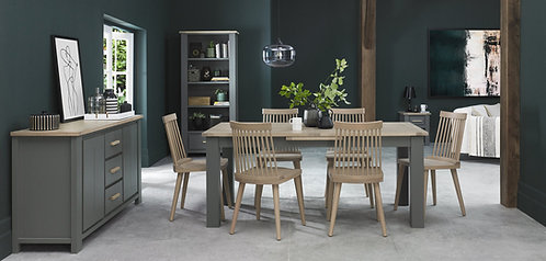 Oakham Dark Grey & Scandi Oak 4-6 Dining Table