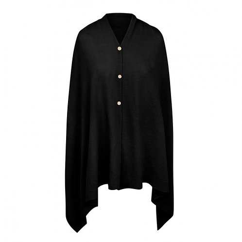 EVE MULTI WAY PONCHO / BLACK