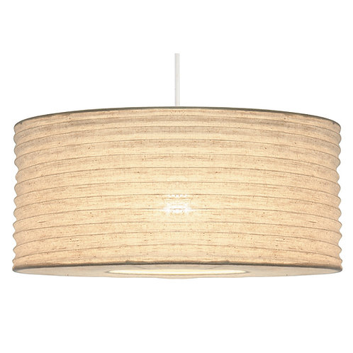 50cm White Jute Easy Fit Lampshade